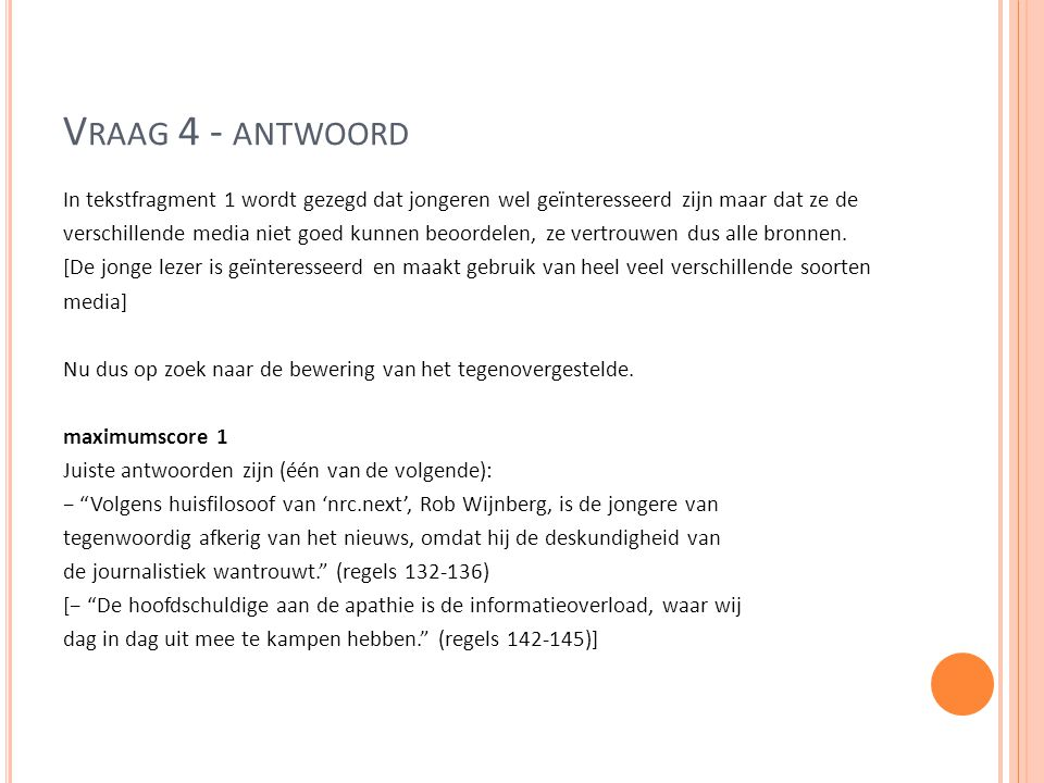Vraag 4 - antwoord