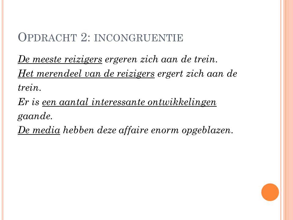 Opdracht 2: incongruentie