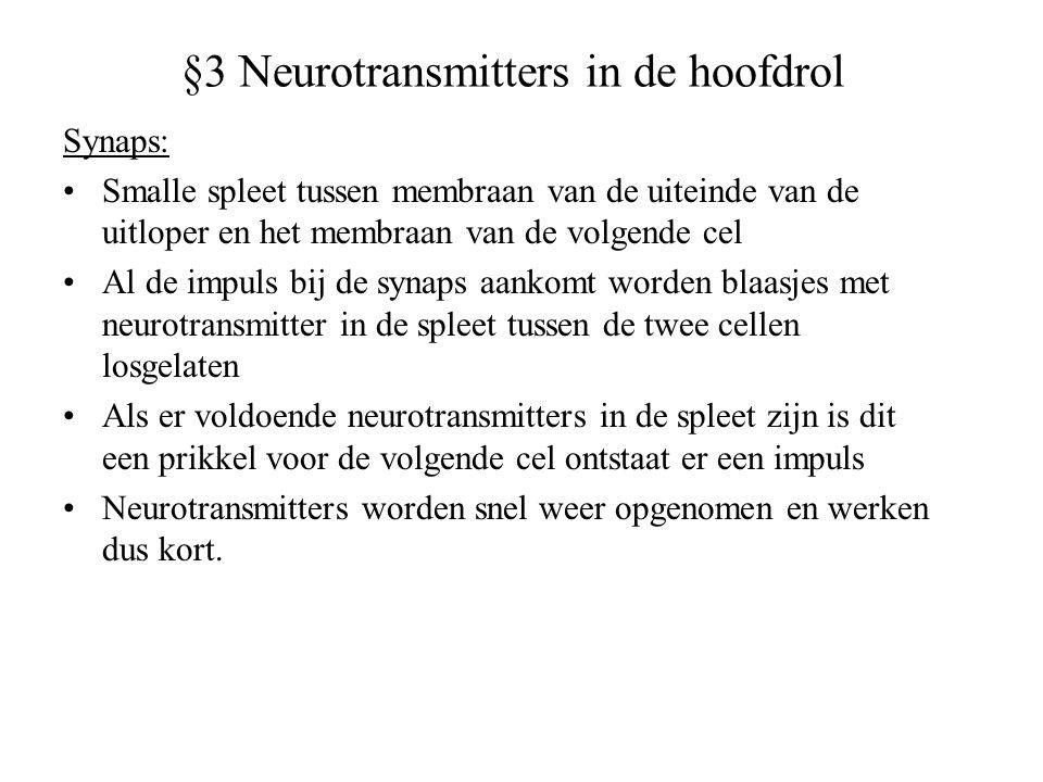 §3 Neurotransmitters in de hoofdrol