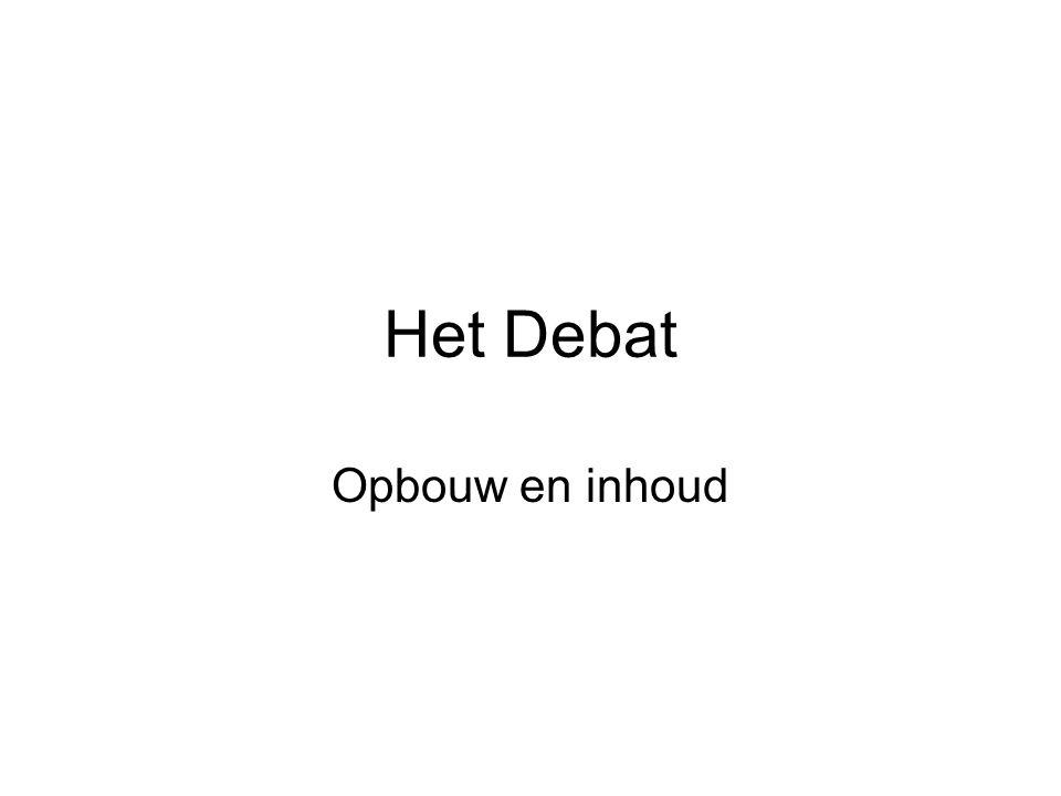 Het Debat Opbouw en inhoud