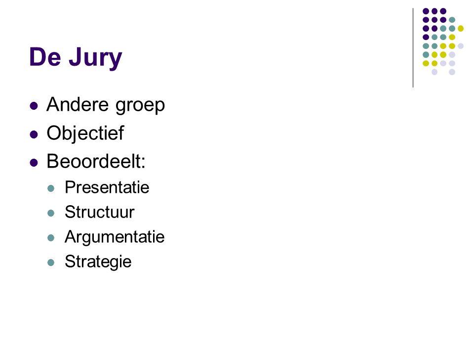 De Jury Andere groep Objectief Beoordeelt: Presentatie Structuur