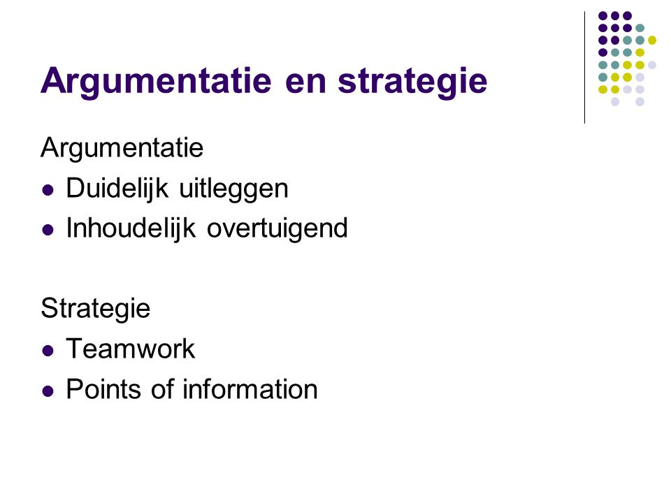 Argumentatie en strategie