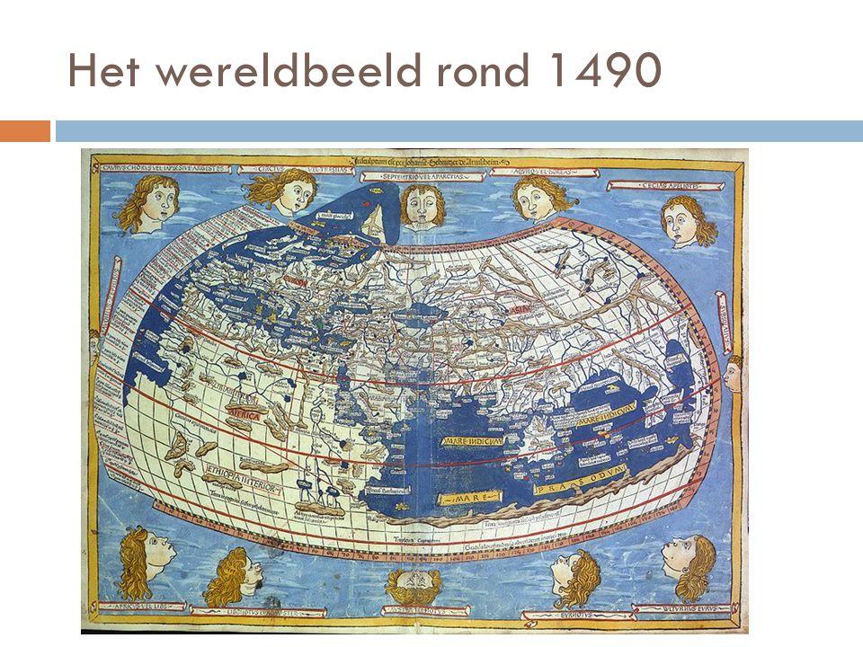 Het wereldbeeld rond 1490