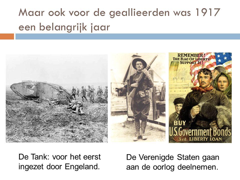 Maar ook voor de geallieerden was 1917 een belangrijk jaar
