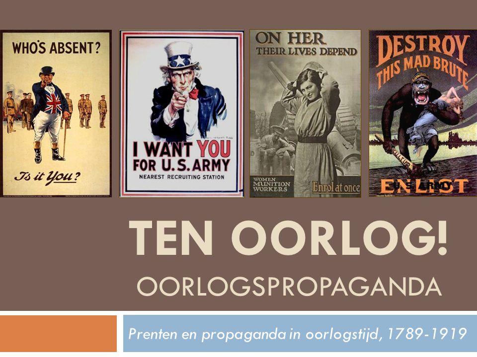 TEN OORLOG! Oorlogspropaganda