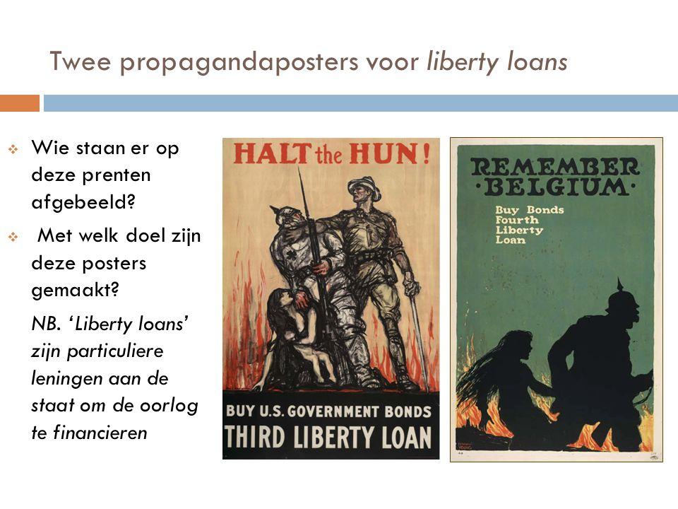 Twee propagandaposters voor liberty loans