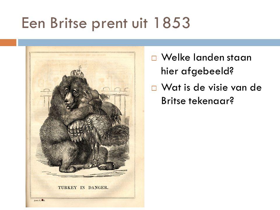 Een Britse prent uit 1853 Welke landen staan hier afgebeeld