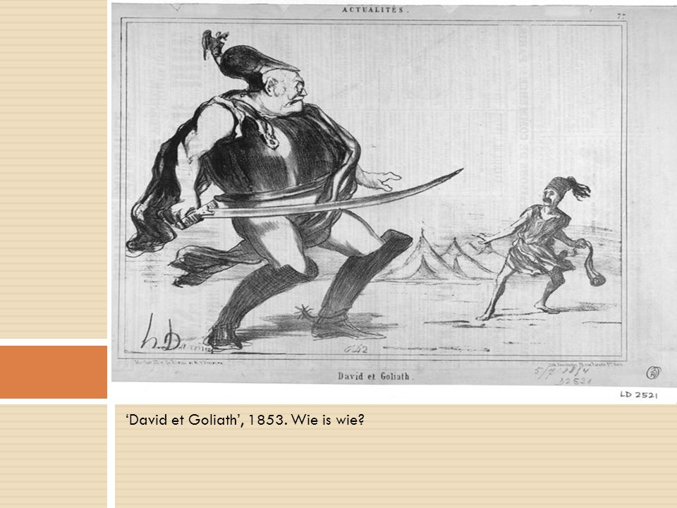 'David et Goliath', 1853. Wie is wie