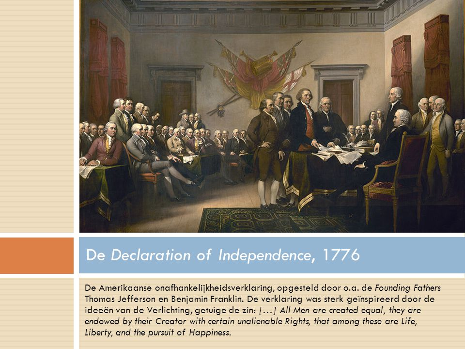 De Declaration of Independence, 1776