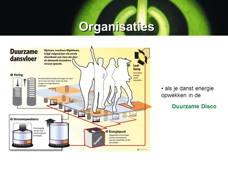 Organisaties als je danst energie opwekken in de Duurzame Disco