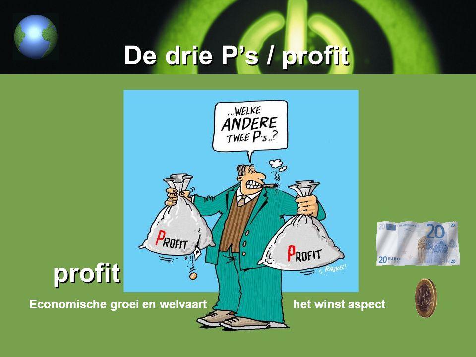 De drie P's / profit profit