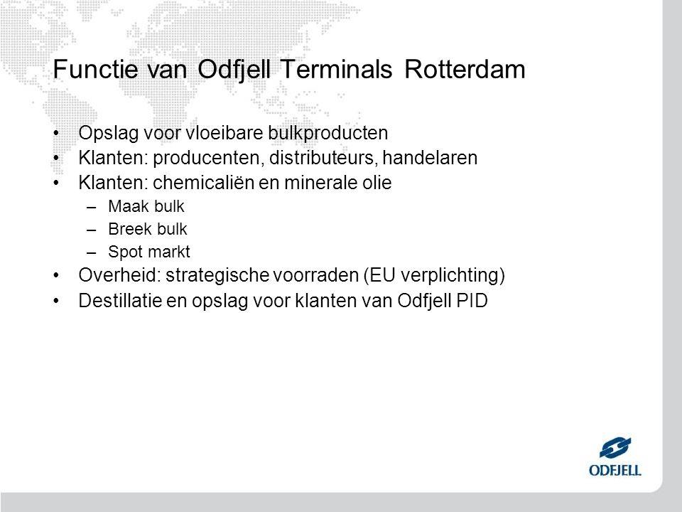 Functie van Odfjell Terminals Rotterdam