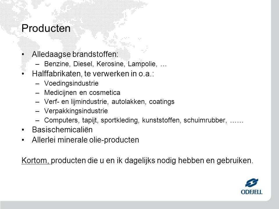 Producten Alledaagse brandstoffen: