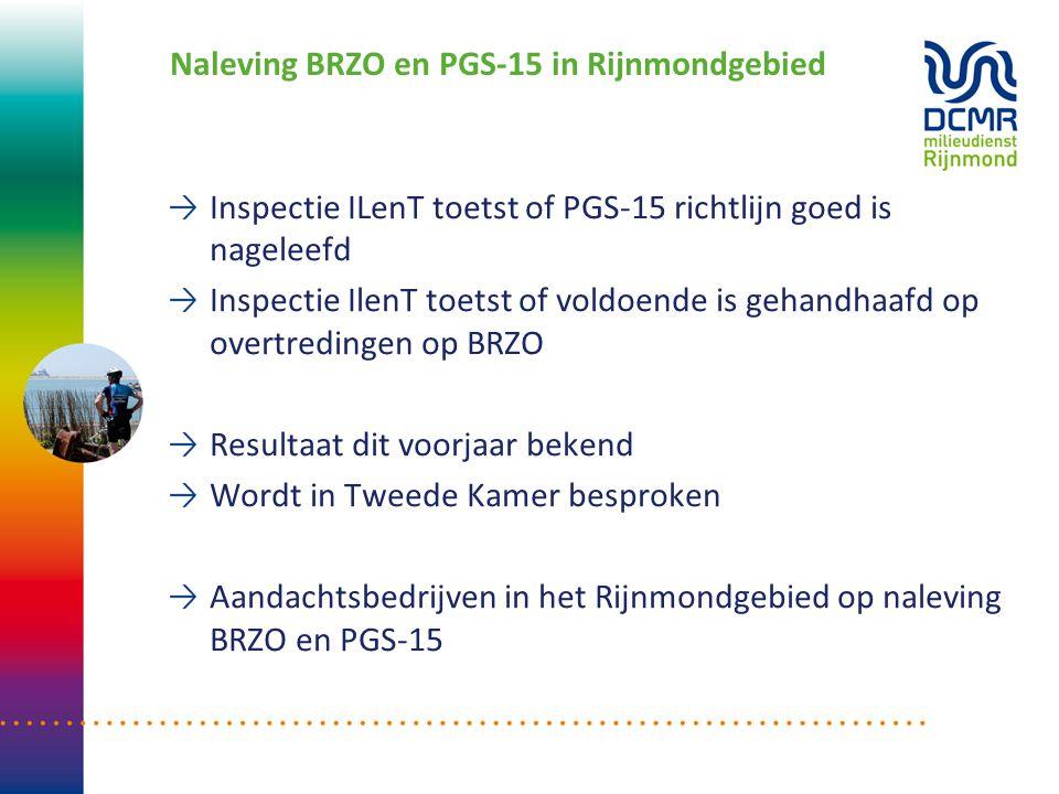 Naleving BRZO en PGS-15 in Rijnmondgebied