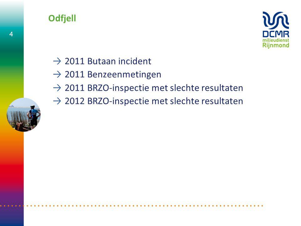 Odfjell 2011 Butaan incident. 2011 Benzeenmetingen.