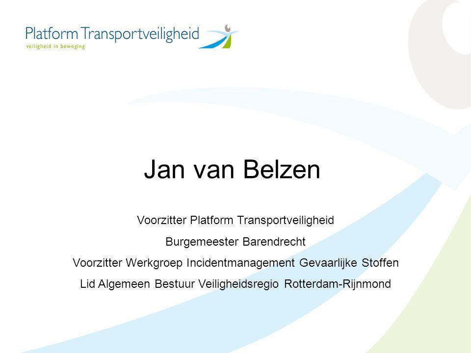 Jan van Belzen Voorzitter Platform Transportveiligheid