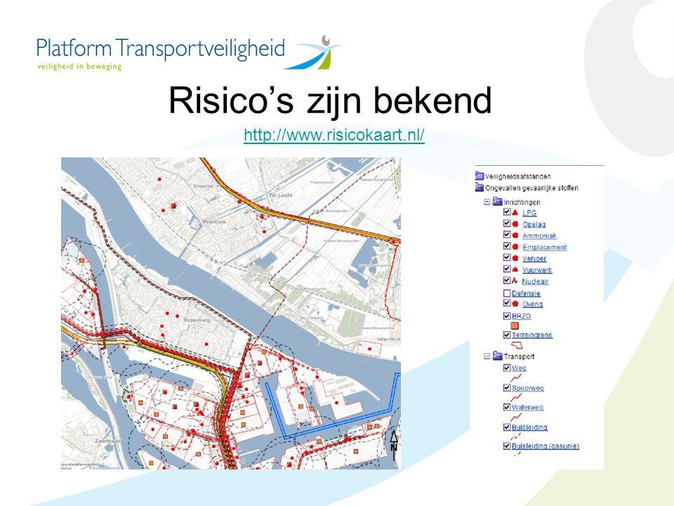 Risico's zijn bekend http://www.risicokaart.nl/