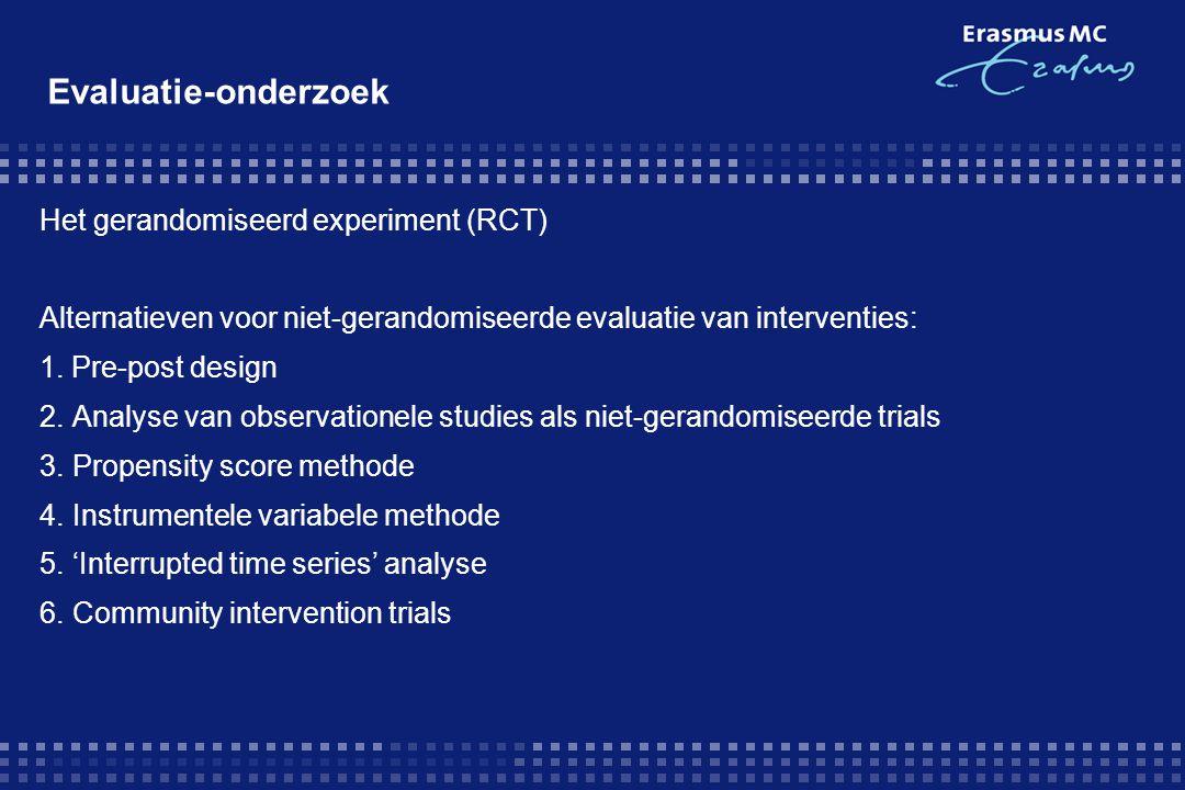 Evaluatie-onderzoek Het gerandomiseerd experiment (RCT)
