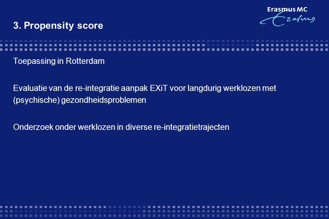 3. Propensity score Toepassing in Rotterdam