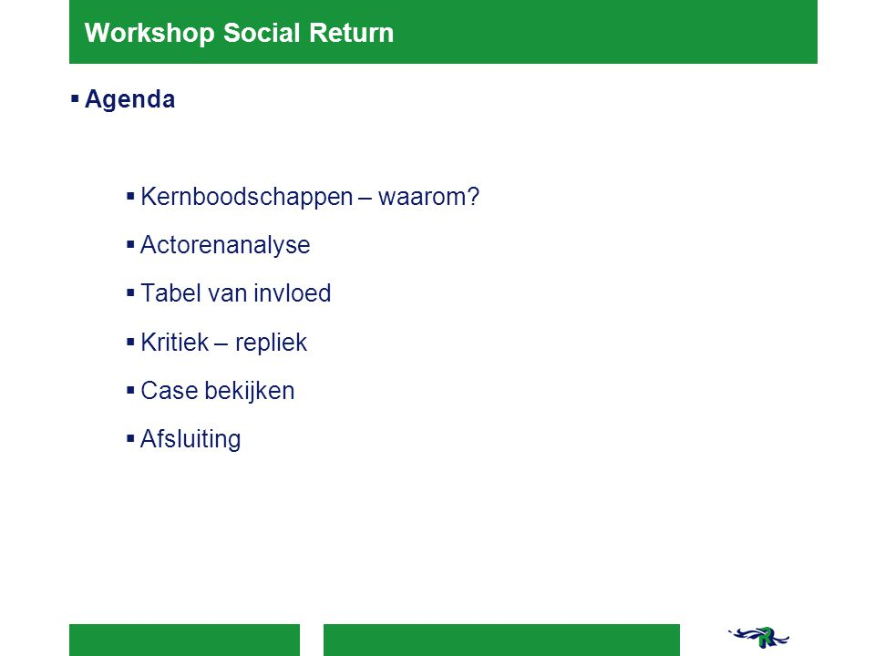 Workshop Social Return
