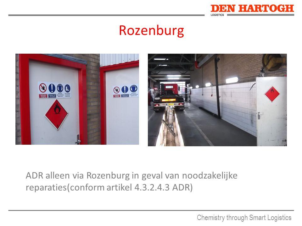 Rozenburg ADR alleen via Rozenburg in geval van noodzakelijke reparaties(conform artikel 4.3.2.4.3 ADR)