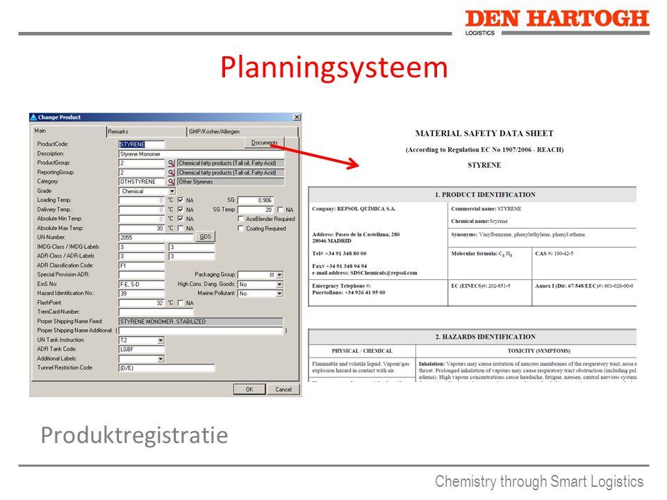 Planningsysteem Produktregistratie