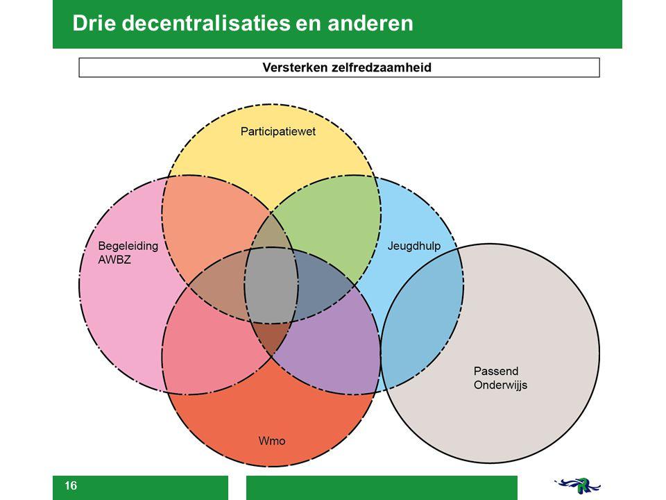 Drie decentralisaties en anderen