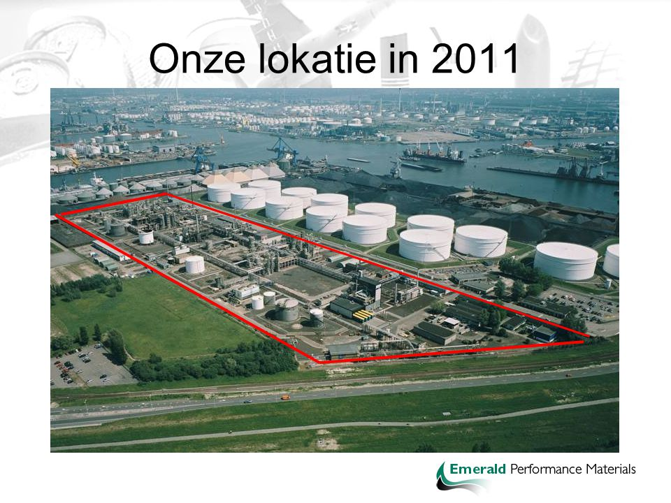 Onze lokatie in 2011