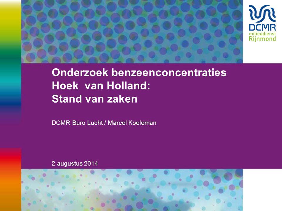 Onderzoek benzeenconcentraties Hoek van Holland: Stand van zaken