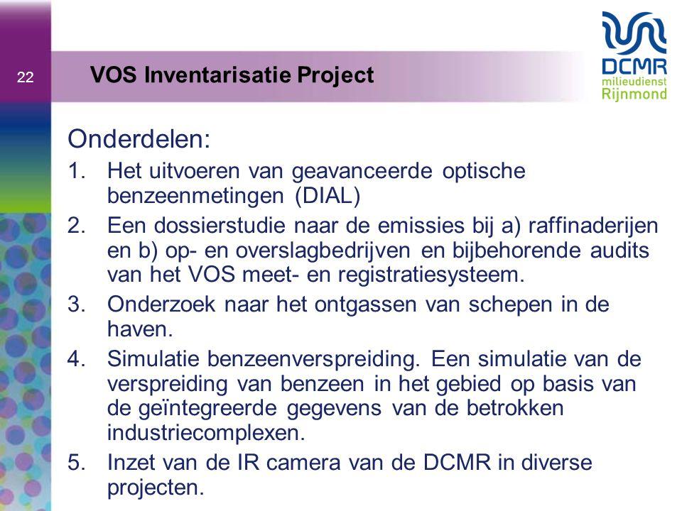 Onderdelen: VOS Inventarisatie Project