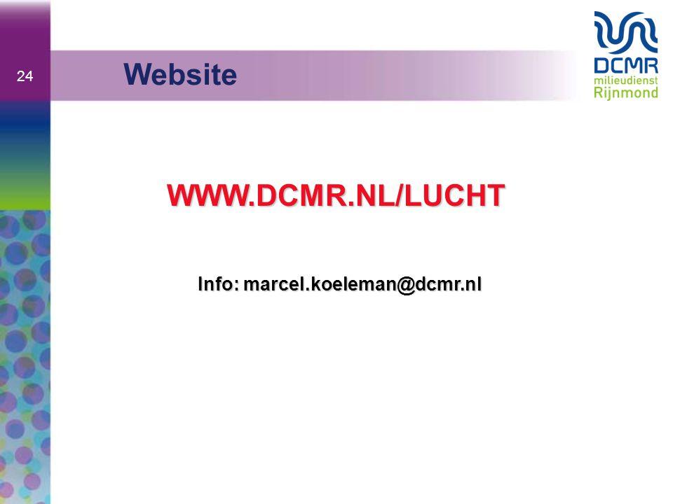 Info: marcel.koeleman@dcmr.nl