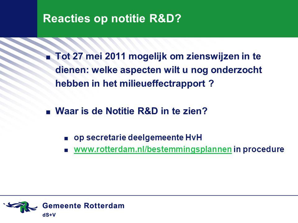 Reacties op notitie R&D