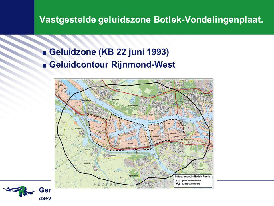 Vastgestelde geluidszone Botlek-Vondelingenplaat.
