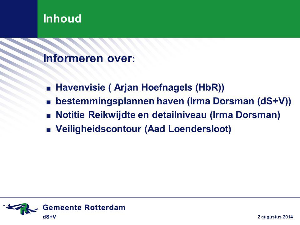 Inhoud Informeren over: Havenvisie ( Arjan Hoefnagels (HbR))