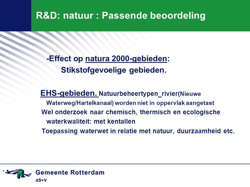 R&D: natuur : Passende beoordeling
