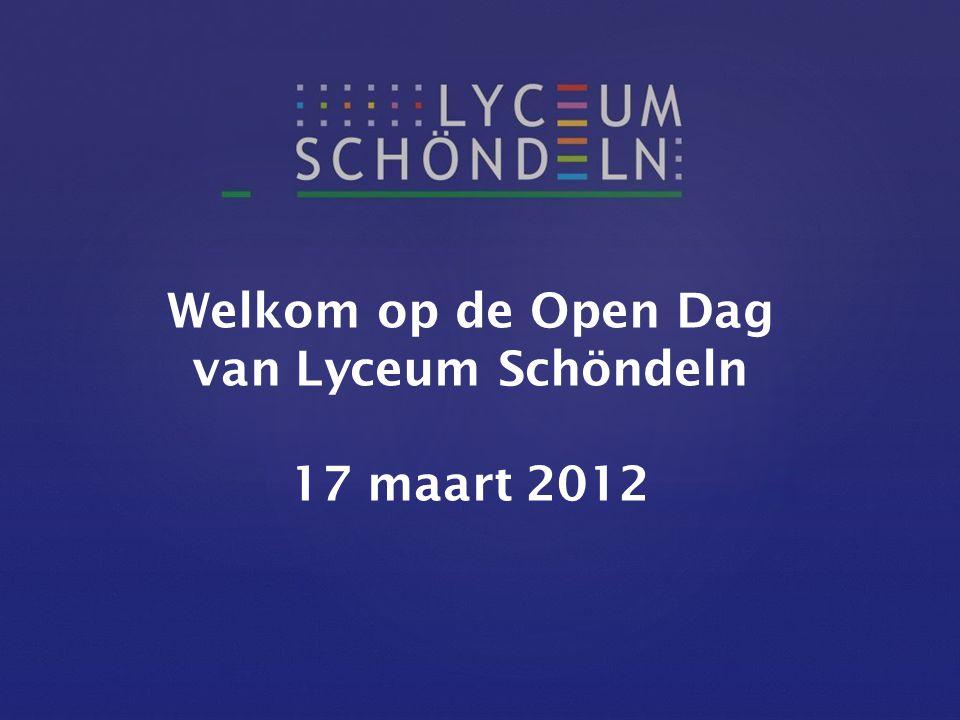 Welkom op de Open Dag van Lyceum Schöndeln 17 maart 2012