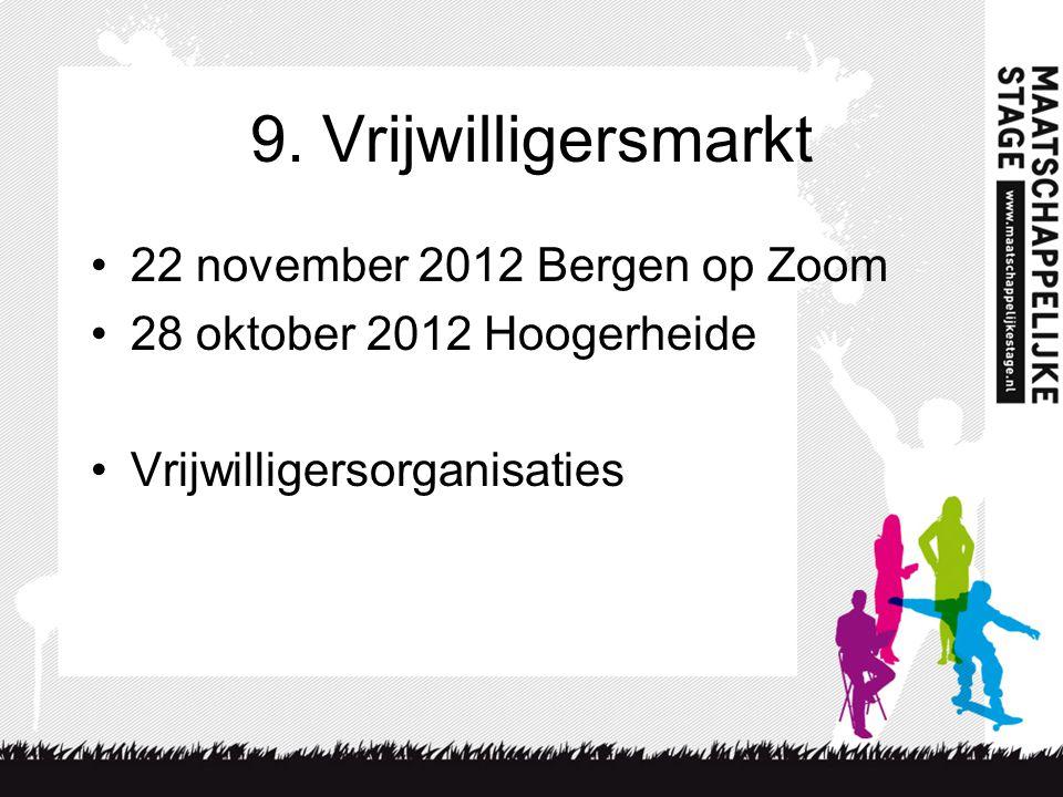 9. Vrijwilligersmarkt 22 november 2012 Bergen op Zoom