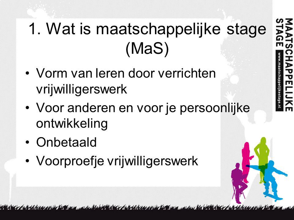 1. Wat is maatschappelijke stage (MaS)