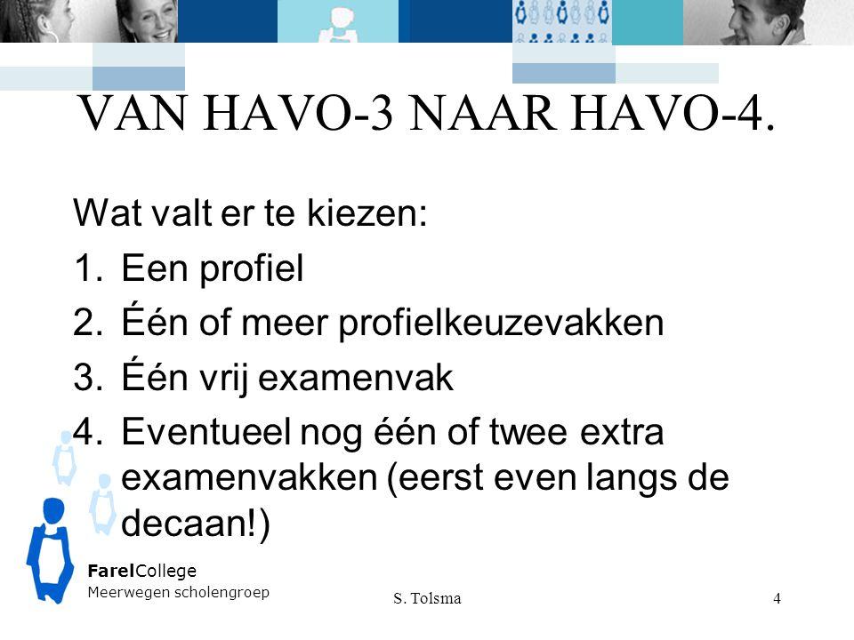 VAN HAVO-3 NAAR HAVO-4. Wat valt er te kiezen: Een profiel