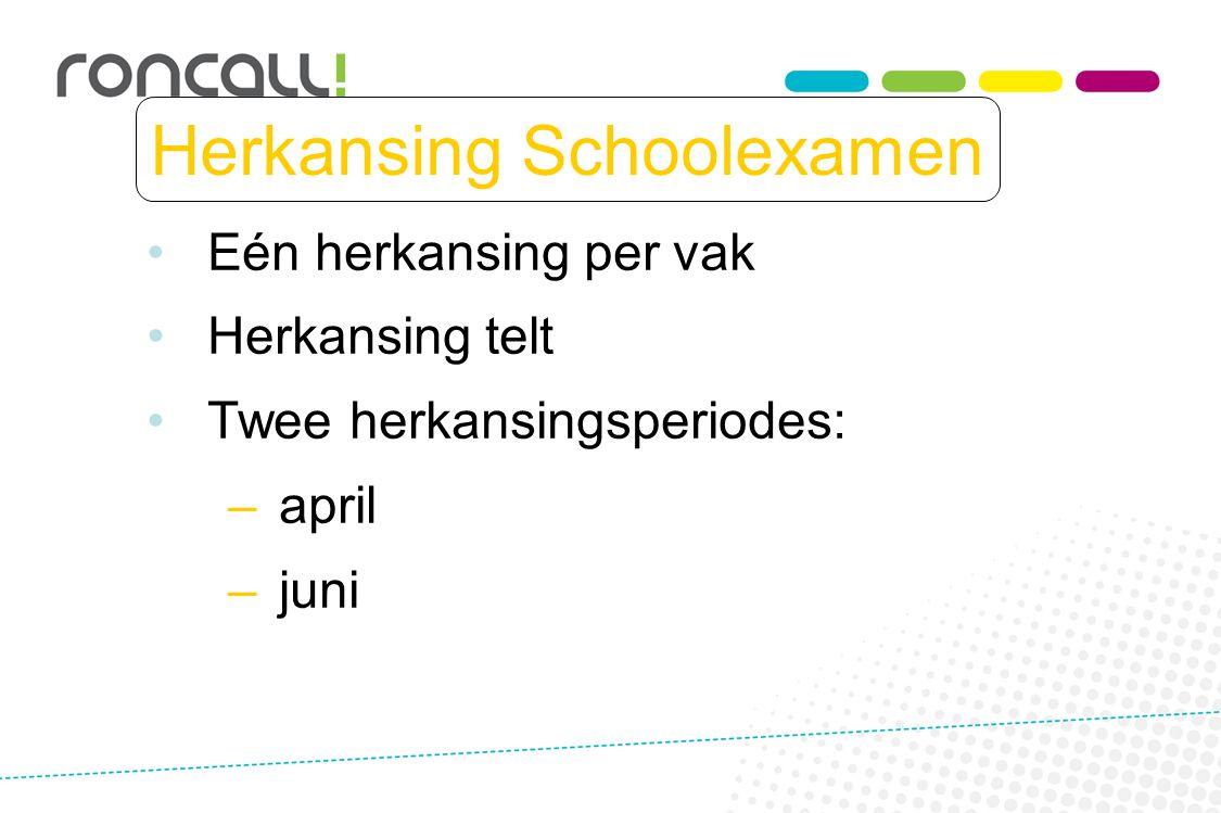 Herkansing Schoolexamen
