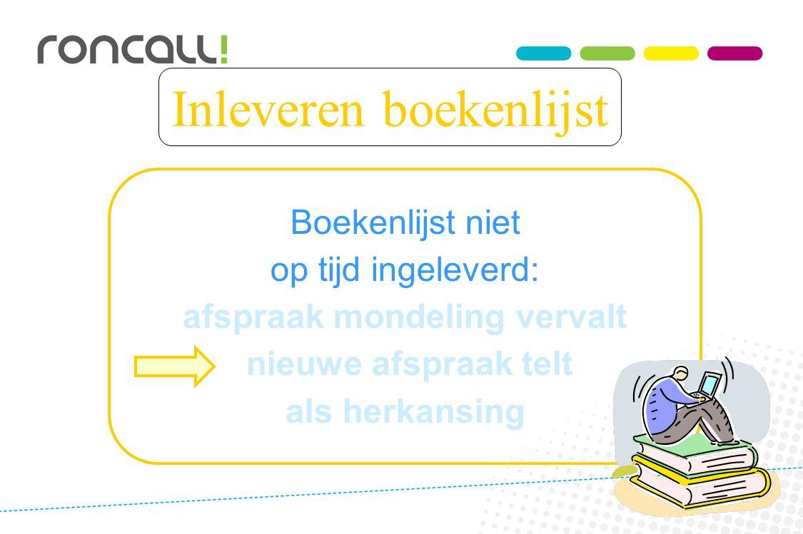 Inleveren boekenlijst