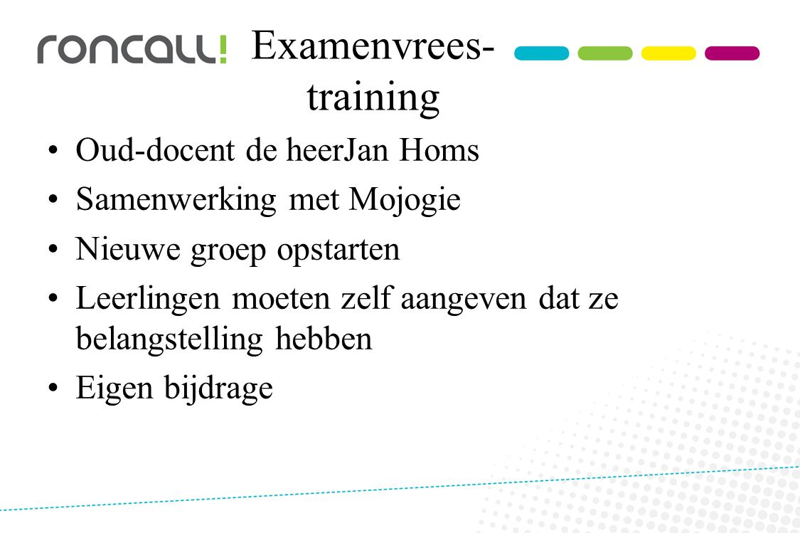 Examenvrees-training