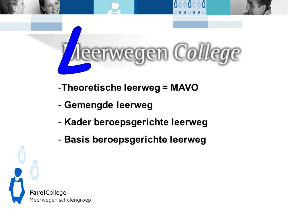 L Theoretische leerweg = MAVO Gemengde leerweg