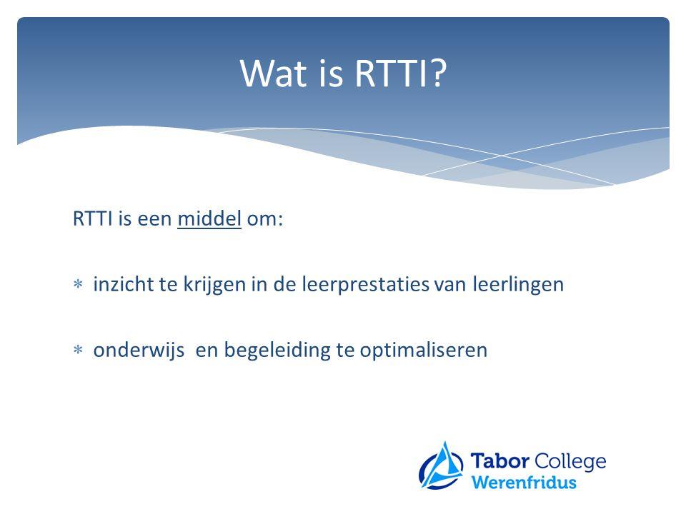 Wat is RTTI RTTI is een middel om:
