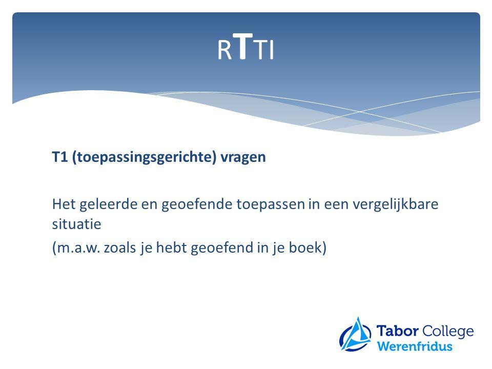RTTI T1 (toepassingsgerichte) vragen