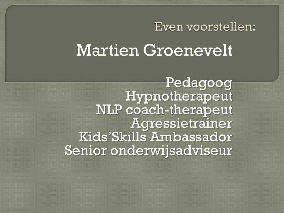 Martien Groenevelt Pedagoog Hypnotherapeut NLP coach-therapeut