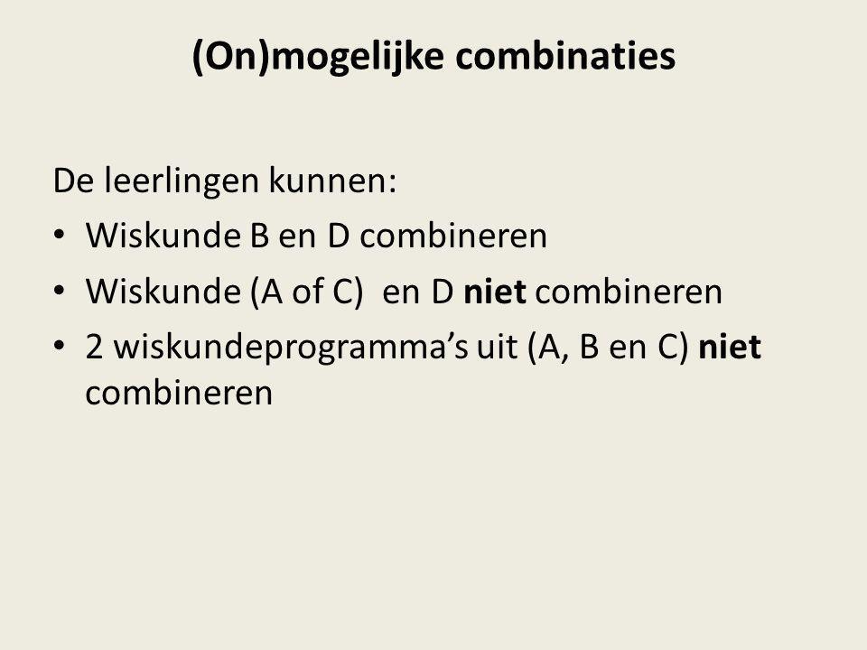 (On)mogelijke combinaties