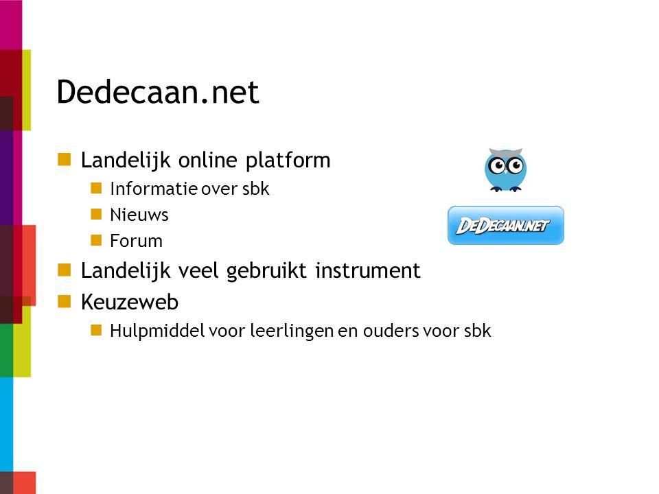 Dedecaan.net Landelijk online platform