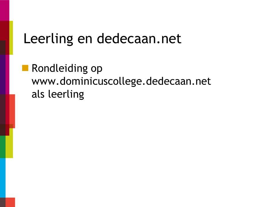 Leerling en dedecaan.net