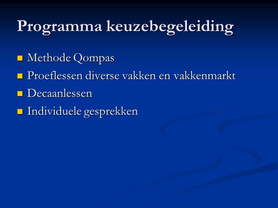 Programma keuzebegeleiding